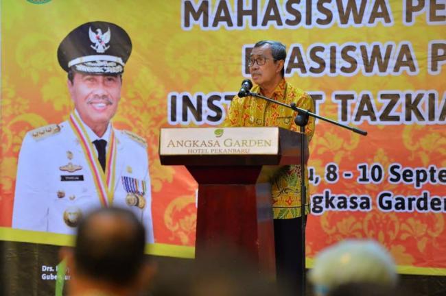 Mahasiswa Institut Agama Islam Tazkia Asal Riau Diharapkan Jadi Pengusaha Hebat