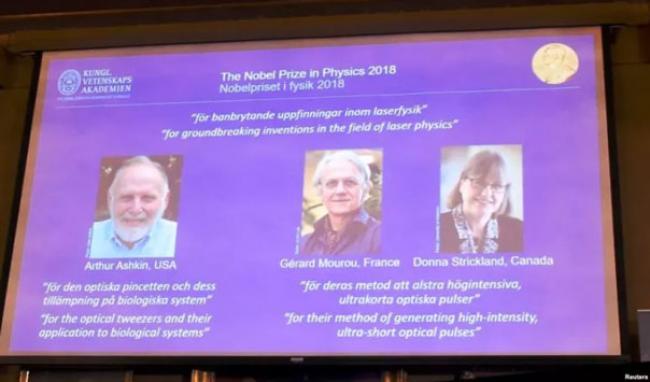 3 Ilmuwan Dianugerahi Nobel Fisika 2018 Berkat Penelitian Laser