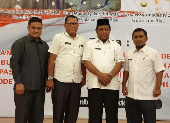 Wabup Rohil Hadiri Rapat Forkopimda Provinsi Riau Tahun 2019