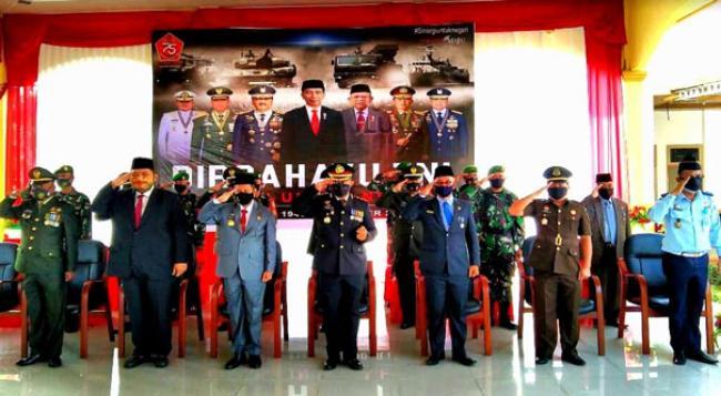 Forkopimda Rohul Ikuti HUT TNI Ke 75 Secara Virtual