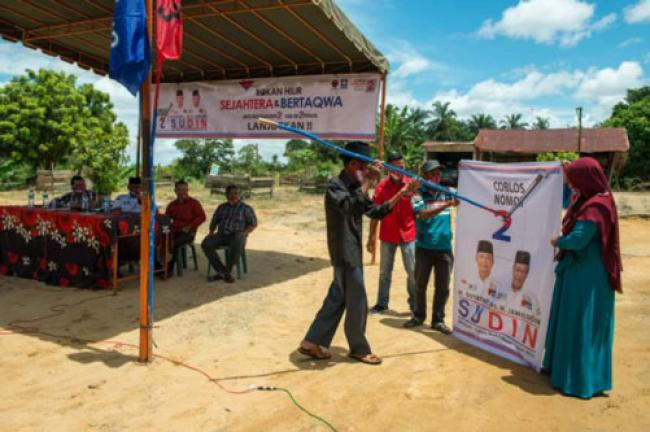 Kampanye Perdana DiLenggadai Hilir, Masyarakat Ingin Sudin Lanjutkan Dua Periode
