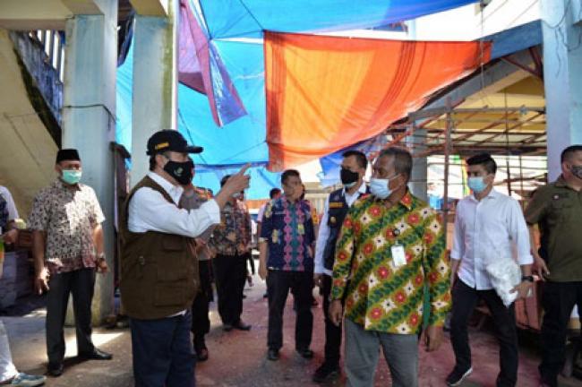 Gubri Sosialisasikan Protokol Kesehatan 4M di Pasar Sungai Apit Kabupaten Siak