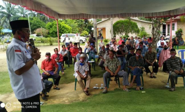 Kampanye di Bangko Sempurna, H Suyatno: SMP Sudah Dibangun, Tinggal 1 Janji Lagi, 2021 Jalan H Zulkaini Mulus