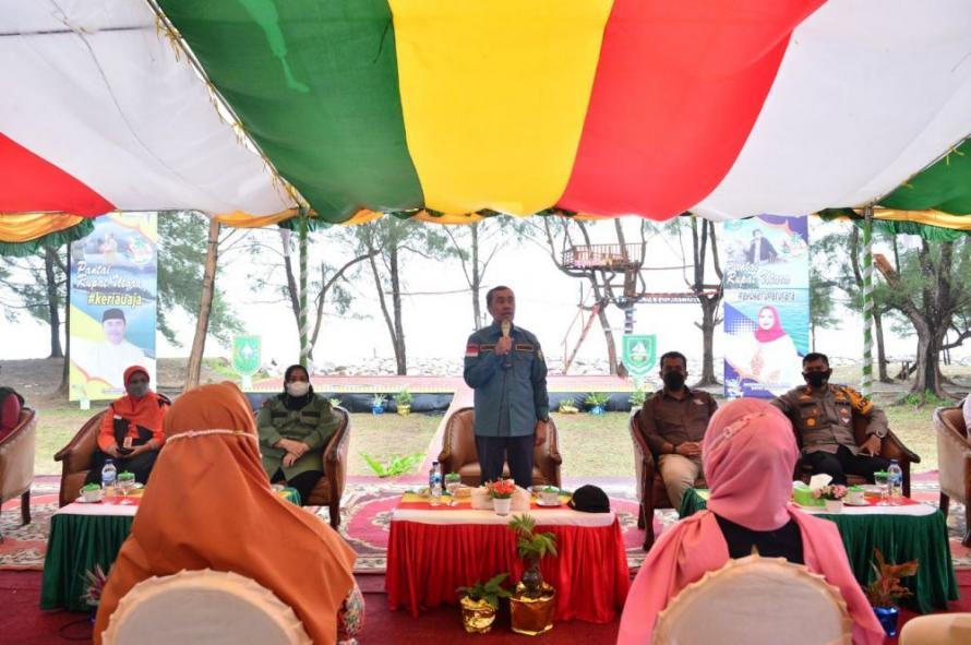 Kunker di Pulau Rupat, Ini Pesan Gubernur Riau Untuk Pelaku Parekraf dan Milenal