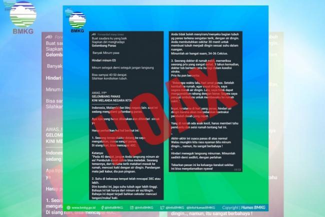 Hoax! Gelombang Panas Melanda Indonesia, Ini penjelasan BMKG