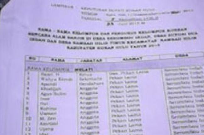 Bantuan Stimulan BBR Desa Serombou Indah Diduga Diselewengkan