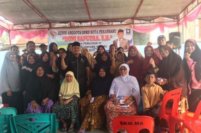 Reses Doni Saputra SH, Warga Keluhkan Susah Dapat Lowongan Pekerjaan Bagi Warga Kampung Dalam