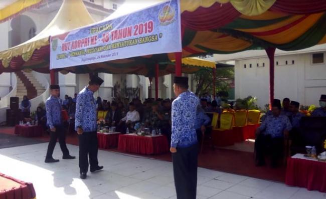 Bupati Suyatno Marah-marah, Giat HUT Korpri ke 48 di Rohil Tidak Manfaat Pada Masyarakat