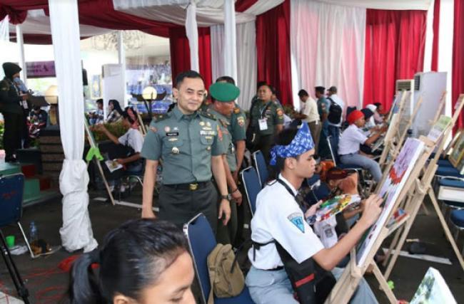 Pusjarah TNI Gelar Lomba Lukis SMA Tingkat Nasional