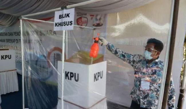 KPU Riau Sediakan Tempat Khusus untuk Pemilih dengan Suhu di Atas 37,3 Derajat Celcius