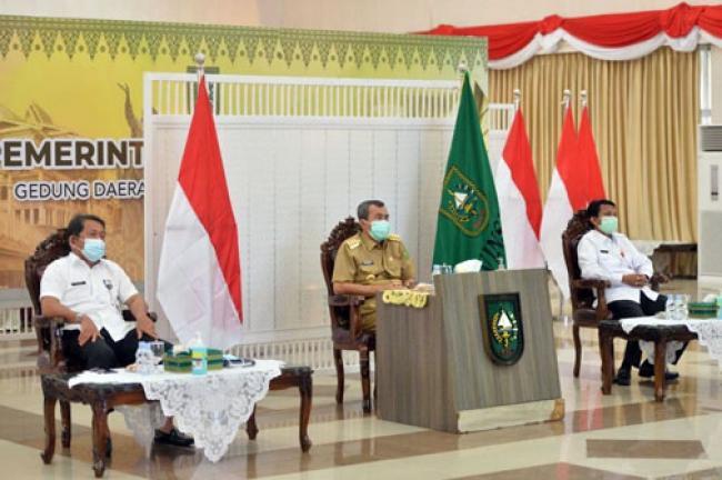 Provinsi Riau Terima DIPA dan TKDD Tahun 2021 dari Presiden RI secara Virtual