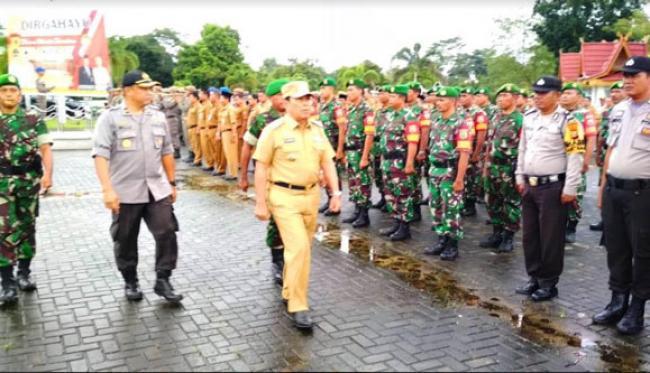 Aktif Dalam Penanggulangan Bencana, Sukiman: Terimakasih TNI-Polri dan BPBD Rohul