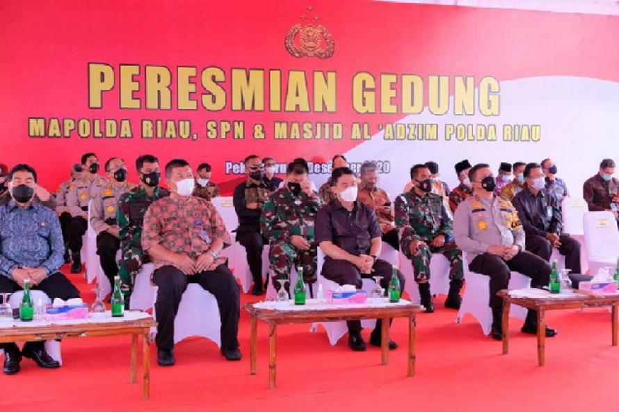 Wakapolri Resmikan Gedung Baru Polda Riau, SPN dan Masjid Al Adzim secara Virtual