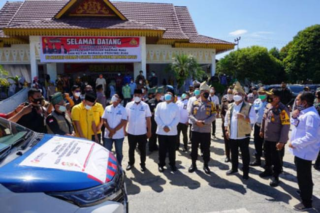 Anggota Bawaslu RI dan Kapolda Riau Lepas 50 Armada Tim Patroli Money Politic di Rohul
